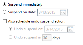 SuspendGroup-Scheduling
