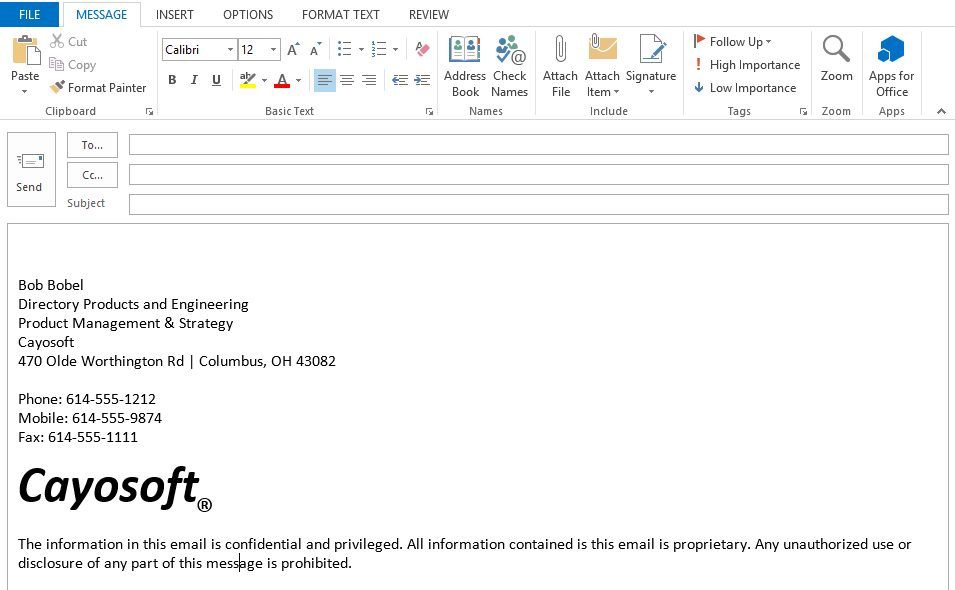 How To Copy The Office 365 Signature To Outlook Client