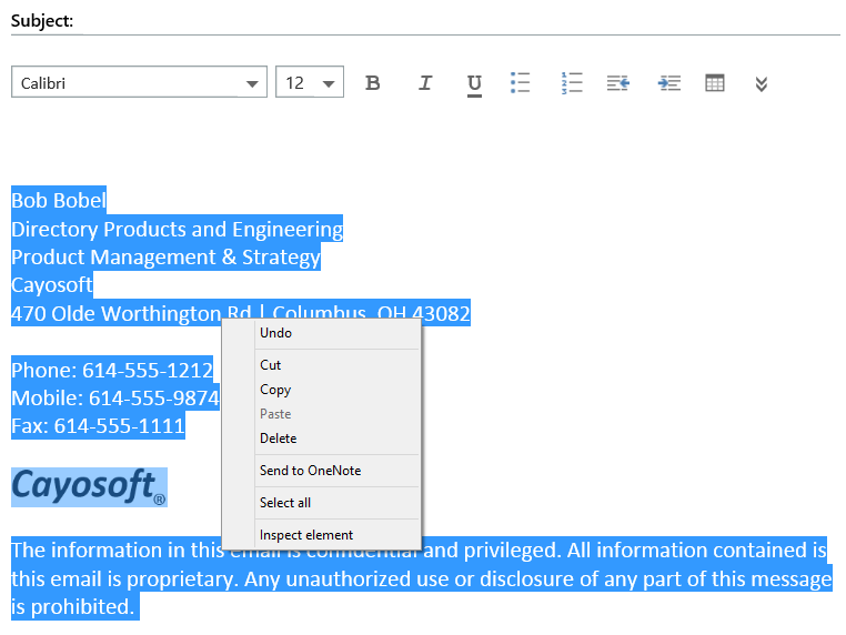 how to create a signature block in outlook