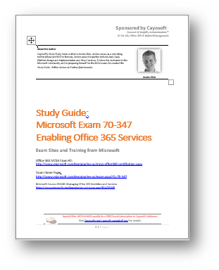 FreeStudyGuide70-347Office365Exam