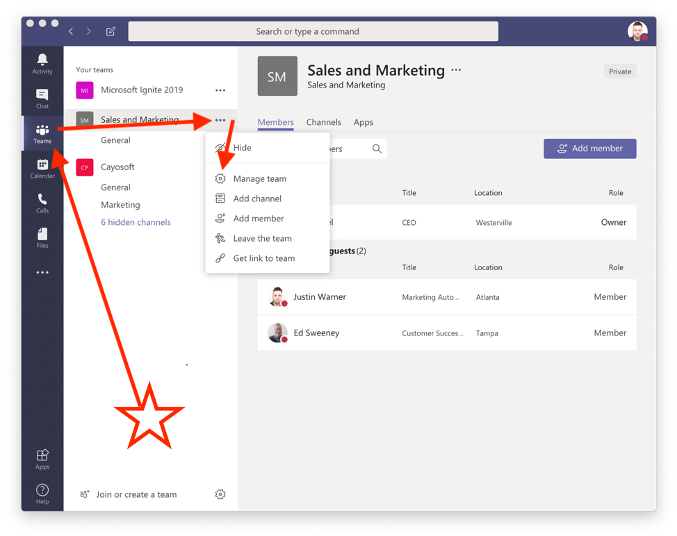 Add Team Members and Owners to a Microsoft Teams