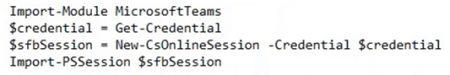 Teams Powershell Module 1.1.6 Command