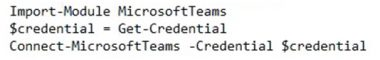 Teams Powershell Module 2.0 or later Command